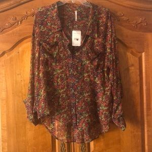 Free people free flowing button front blouse
